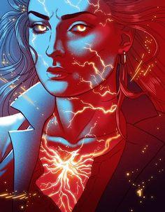 X-Men: Dark Phoenix - Jean Grey - Sophie Turner by Paulina Ganucheau *You can find Jean grey and more on our website.X-Men: Dark Phoenix - Jean Grey - Sophie Tu. Phoenix Drawing, Phoenix Art, Phoenix Force, Jean Grey Phoenix, Dark Phoenix, Marvel Comics Art, Marvel X, Spiderman Marvel, X Men