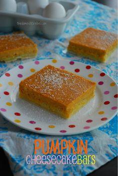 Pumpkin Cheesecake Bars from @The Domestic Rebel