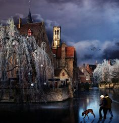 Brugge - Walk on thin ice--by Piet Flour Beautiful World, Beautiful Places, On Thin Ice, Science And Nature, Wonders Of The World, Places To See, Funny Pictures, Funny Pics, Around The Worlds