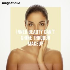 Inner beauty can't shine through makeup #loveyourskin #naturalbeauty #beauty #makeup #win #skin #giveaway #organic #health #looksgood #healthyskin #healthywomen