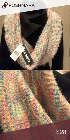 Steve Madden Pastel Infinity Scarf NWT Steve Madden Pastel Colors Woven Infinity Scarf NWT, Super Soft, Non Scratchy, 65% Nylon & 35% Acrylic, Delicate Eyelash Or Feathered Tiny Whisps Of Yarn Throughout Scarf Steve Madden Accessories Scarves & Wraps