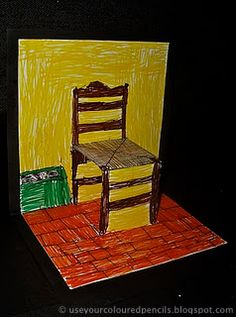 """Inspiration: Post Impressionist painter Vincent Van Gogh's (1853 -  1890) painting  """"The Chair and the Pipe' (or Van Gogh's Chair'), 1888..."""