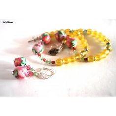 #Pink #Flower #Necklace , Flower #Jewelry, #Handmade Necklace , Artisan Jewelry, #Fashion Jewelry, Designer #Bracelet - @BlueMorningExpressions