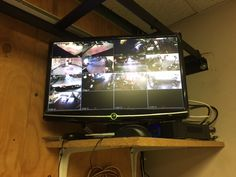 Security cameras installation Los Angeles. CCTV footage show screen after the…
