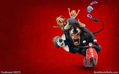 #Ferdinand and his friends riding a vespa in this wallpaper hd :]