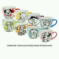 Disney mugs, i have the mini mouse mug, because of my outrageous nickname