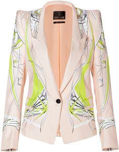 Roberto Cavalli One Button Silk Blazer