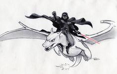 Darth Vader Riding Charizard. Need I say more?