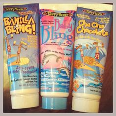 Vanilla and Chocolate ice cream flavored toothpaste for kids