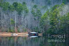 Boathouse On Pinnacle Lake by Optical Playground By MP Ray #landscape