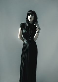 Sammydress Black Collar Evening Dress