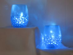 bet i could make these. Round Glass Vases with Light LED Floralytes Submersibles and Water Gems Burlap Centerpieces, Wedding Centerpieces, Water Gems, Round Glass Vase, Vase With Lights, Holiday World, 50th Birthday Party, Candle Set, Light Led