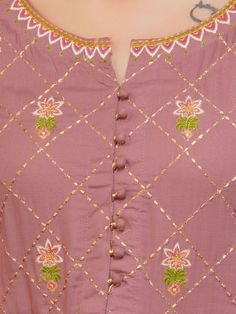 Floral Embroidered & Gathered Kurti - Fashor