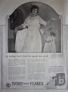 1921 ad Ivory Soap Flakes Detergent Mother and Daughter Photo Laundry Art Vintage Print ad by BacknWonderland on Etsy Vintage Ads, Vintage Prints, Laundry Art, Ivory Soap, Magazine Ads, Print Ads, Flakes, Daughter, Etsy