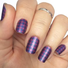 Gridlines - photo posted by Jamberry. Visit my website to purchase a sheet (will do 2 manicures and 2 pedicures) Plaid Nails, Swag Nails, Cute Nails, Pretty Nails, Strong Nails, Jamberry Nail Wraps, Healthy Nails, Nail Technician, Mani Pedi