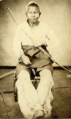 An Osage native American man. The United States government started to take away land from the Osage Indians in 1808. A reservation was formed for the Osage Indians in Southern Kansas in 1825. As with many other tribes they were relocated to Oklahoma. Many Osage Indians still live in Oklahoma around the Pawhuska area.