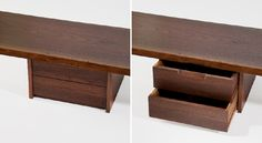 Furniture Wall Hanging Shelf 2 A single plank with small drawers appears to float in space.