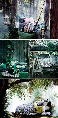 Outdoor fairy beds