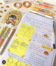 Bio will kill me tbh LMAO I had to stick gudetama stickers in my notes bc it matched the colour scheme byE (why is gudetama so relatable tho) Cute Notes, Pretty Notes, College Notes, School Notes, School Motivation, Study Motivation, Paper Organization, School Organization, Study Pictures