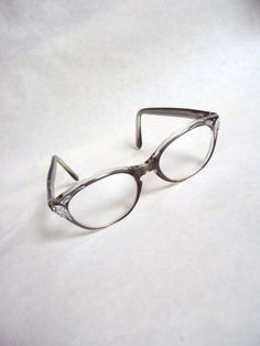 1960s Grey & silver rhinestone spectacle frames by Veramode
