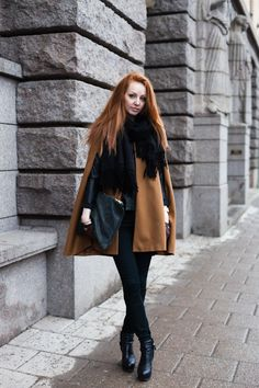 The ginge looks amazing against camel and black... my go-to color combination in the fall/winter!