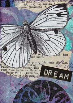 Original mixed media ACEO - Dream