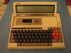 Epson PX-8 (1984) - What a weird little machine. I have actual ROM chips that you have to plug in to use various software packages. Great fun.