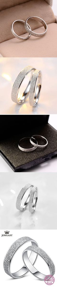 925 Sterling Silver Couples Rings Wave-Shape Wedding Fine Jewelry Women Exquisite Engagement Rings For Lovers Delicate Rings #weddingjewelry
