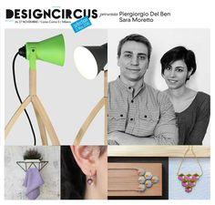 DESIGNCIRCUS presenta PIERGIORGIO DEL BEN & SARA MORETTO Con Interno99, Piergiorgio Del Ben e Sara Moretto realizzano oggetti sospesi tra l'arte e il design. La loro lampada Lightshadow è un po' industriale e un po' cartoon, Ortoteca un vaso per composizioni floreali. Venite a scoprirli, insieme ai loro gioielli, a DesignCircus, il 26 e il 27 novembre in Corso Como 5!