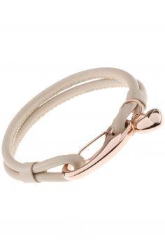 beige #leather #bracelet I designed for NEW ONE I NEWONE-SHOP.COM