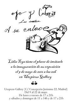 Ojo y Cabeza by Lidia Toga.   Lidia Toga dibuja, pinta y hace video y quiere casarse con el arte, es decir, organizar una exposición sin intermediarios, sin galerias, solo ella y los mecenas que crean en su trabajo. Es la única forma de tomar las riendas de su trayectoria profesional fuera de los cauces tradicionales.   CAMPAÑA: http://www.verkami.com/projects/1608-ojo-y-cabeza-les-invitan-a-su-enlace  +INFO: http://ojoycabezaexpo.blogspot.com.es/