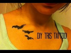 SUPER easy DIY tris tattoo! If you are a fan of divergent you should check this video out!