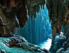 Grotto cave near Monasterio de Piedra  Beautiful!!!:)