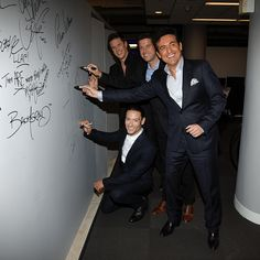 David Miller Urs Buhler Sebastien Izambard and Carlos Marin of Il Divo attend AOL Build Speakers Series Il Divo 'Amor Pasion' at AOL Studios In New...