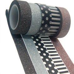 K-LIMIT 5er Set Washi Tape Dekoband Masking Tape 5 Rollen a 15mm x 10 m 9247: Amazon.de: Küche & Haushalt