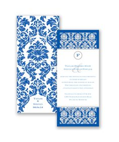 Damask Dazzle Glitter Wedding Invitation by David's Bridal: Send guests a wedding invitation they'll remember - our David's Bridal real glitter invitations!