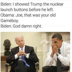 When he couldn't trust Trump with actual buttons: | 19 Joe Biden Memes That Will Get You Through The Next Four Years