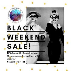 From November 23 to 26 discount in the entire store and for group members Taxi to . November 23, Weekend Sale, Beautiful One, Taxi, Group, Store, Black, Black People, Larger