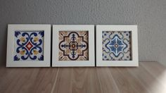 Quadros azulejos portugueses em papel