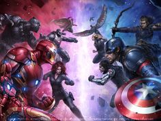 MARVEL FUTURE FIGHT:  Title Illustration  - by  JeeHyung... #InspireArt - http://wp.me/p6qjkV-ck3  #Art