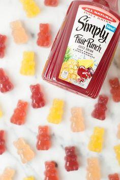 DIY Homemade Gummy Bears Recipe and Free Tutorial too! Kids, Birthday, Snack…