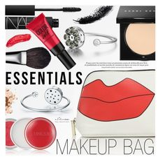 """""""Makeup Bag Staples"""" by totwoo ❤ liked on Polyvore featuring beauty, Alice + Olivia, NARS Cosmetics, Bobbi Brown Cosmetics, Clinique, MAC Cosmetics, Maybelline and Lime Crime"""