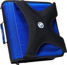 Case-it X-Hugger Round Ring Zipper Binder with Book Holder, Blue Case It Binders, College Reviews, Book Holders, Five Star, Ring Binder, School Supplies, Zipper, Rings, Blue