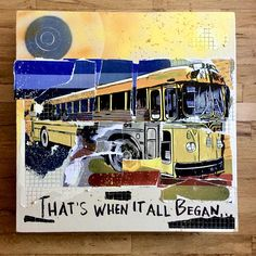 """Grateful Dead/Ken Kesey/Beat Generation original wall art on reclaimed canvas. 24 x 24"""". Jerry Garcia. Other One. Kesey. LSD. Psychedelic. Mancave. Bus. 60s. Neal Cassady. Jack Kerouac. Allen Ginsberg."""