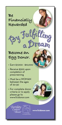 Fertility Centers of Illinois - Ad for egg donors.