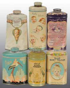 Vintage Home - Beautiful Blue Hyacinth Talc Tin. Vintage Vanity, Vintage Tins, Vintage Shabby Chic, Vintage Antiques, Retro Vintage, Retro Baby, Vintage Storage, Tin Containers, Vintage Packaging