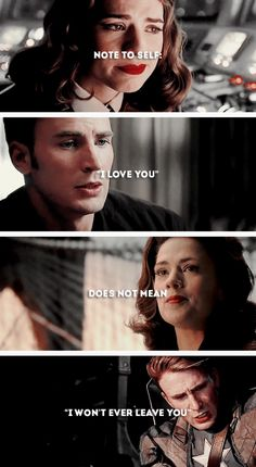 """Note to self: """"I love you"""" does not mean """"I won't ever leave you"""" #marvel"""