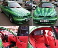 because everyone needs a watermelon car. TO THE FRUIT MOBILE!
