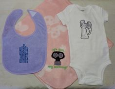 RTS Doctor Who Baby Shower, Baby Gift Set, Baby Nursery, Baby Burp Cloths, Baby Gift for Mom, Baby Gift for Boys, Baby Gift for Girls, - pinned by pin4etsy.com