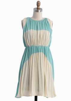 This just looks like me.  Lovely Rhapsody Colorblocked Dress In Cream   Modern Vintage Dresses